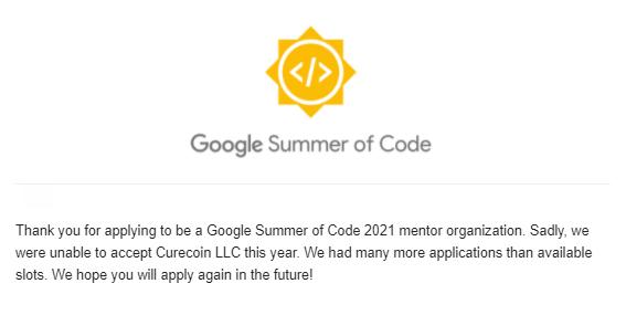 Google GSOC 2021 Response